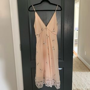 BB Dakota V-Neck Dress with lace & eyelet detail